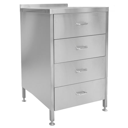 Parry Stainless 4 Drawer Unit