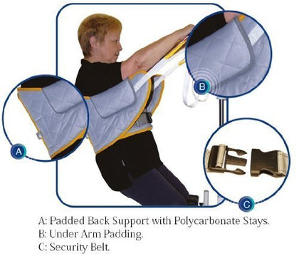 Mackworth Fully Quilted Standaid Sling with Back Support & Loop Attachments