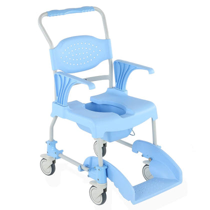 The Aqua Mobile Braked Shower Chair Commode