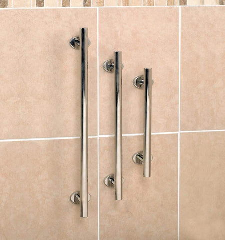 Polished Steel Bath & Shower Grab Rail