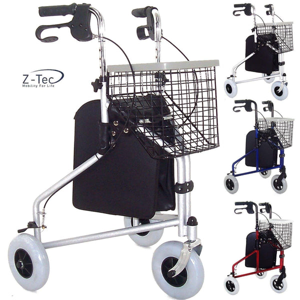Z Tec Folding Tri Walker (Basket, Bag & Tray Included!) - Choose your colour!