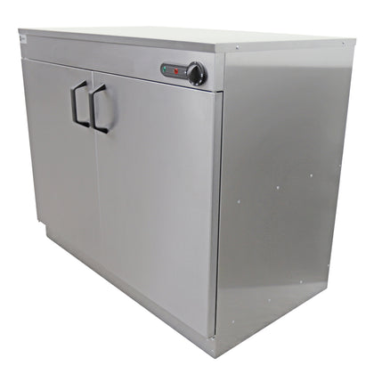 Parry Stainless Double Door Electric Hot Cupboard / Platewarmer