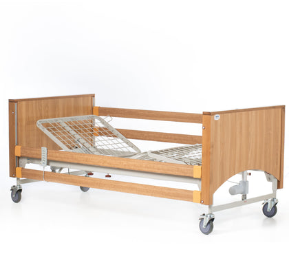 The Lomond Classic Oak Electric Profiling Hospital / Care Bed
