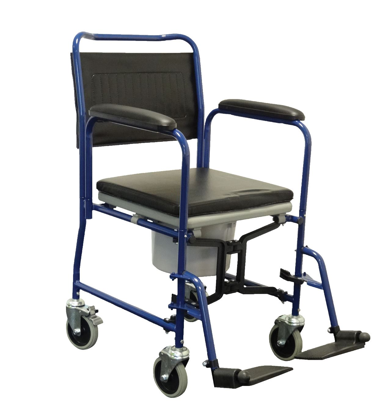 Alerta Mobile Commode / Transfer Chair With Braked Castors