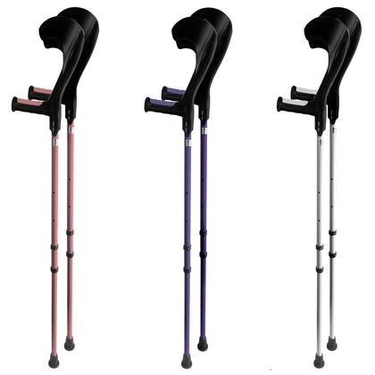 Vilgo Modern Non Slip Adjustable Pastel Crutches (Pair)