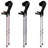 Vilgo Modern Non Slip Open Cuff Adjustable Pastel Crutches (Pair)