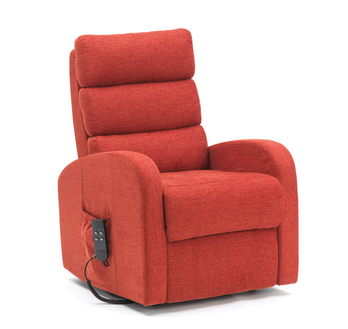 Single Motor Three Tier Waterfall Back Rise & Recliner Armchair