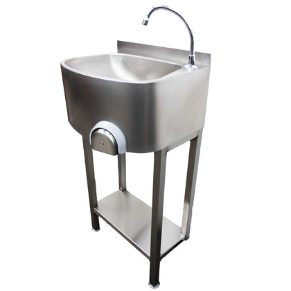 Parry Infection Control Stainless Freestanding Knee Operated Hand Basin