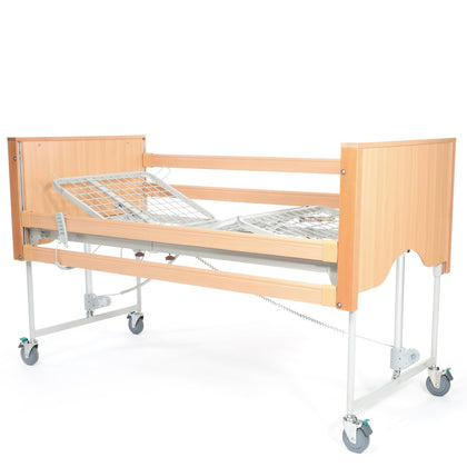 The Encore Classic Oak Electric Profiling Hospital / Care Bed