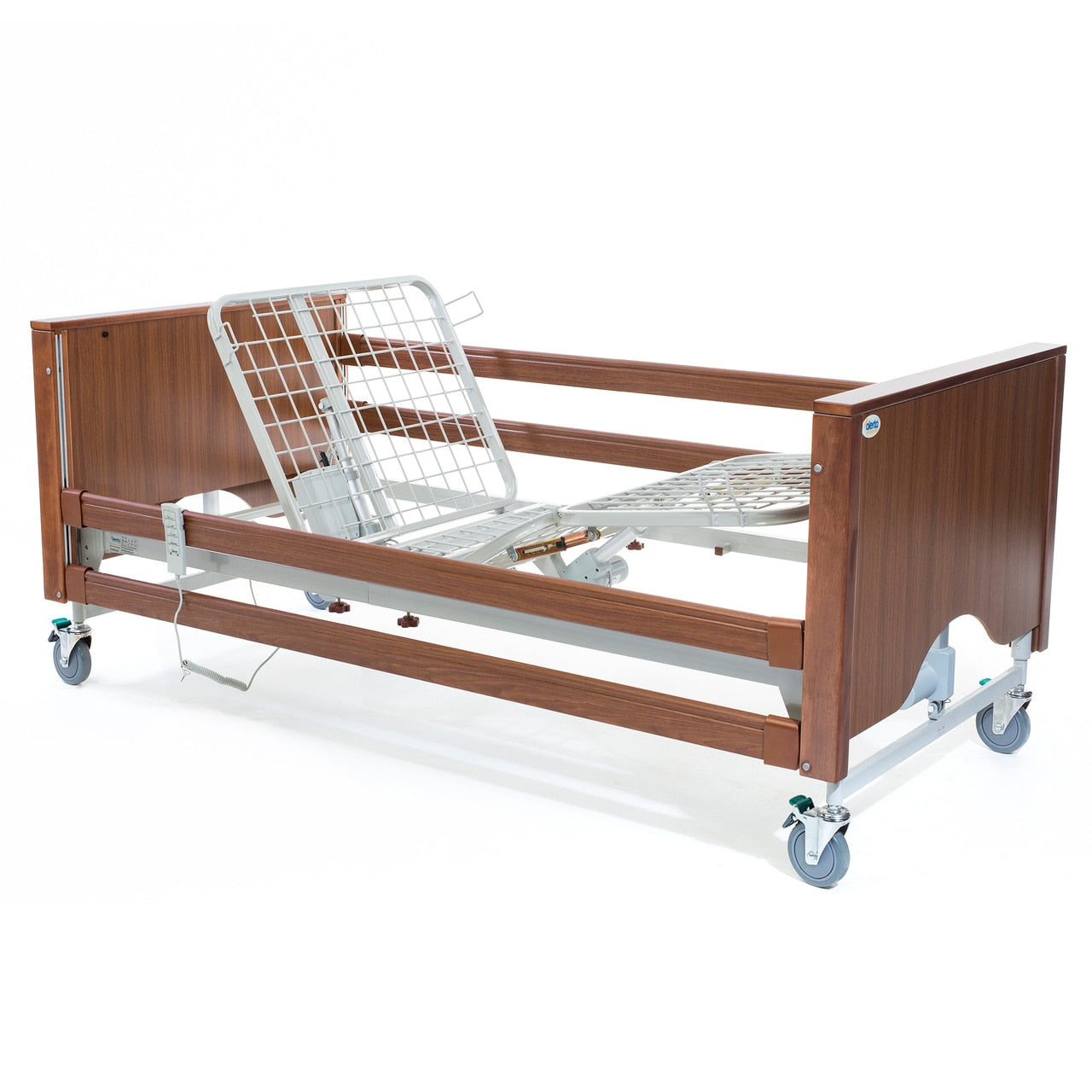 The Lomond Classic Walnut Electric Profiling Hospital / Care Bed