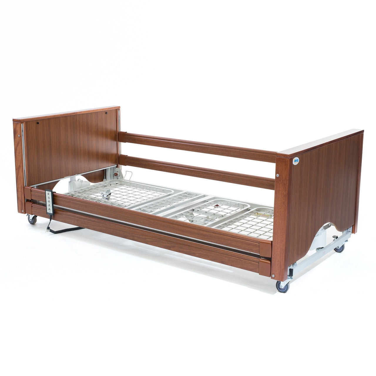 The Lomond Classic Low Walnut Electric Profiling Hospital / Care Bed