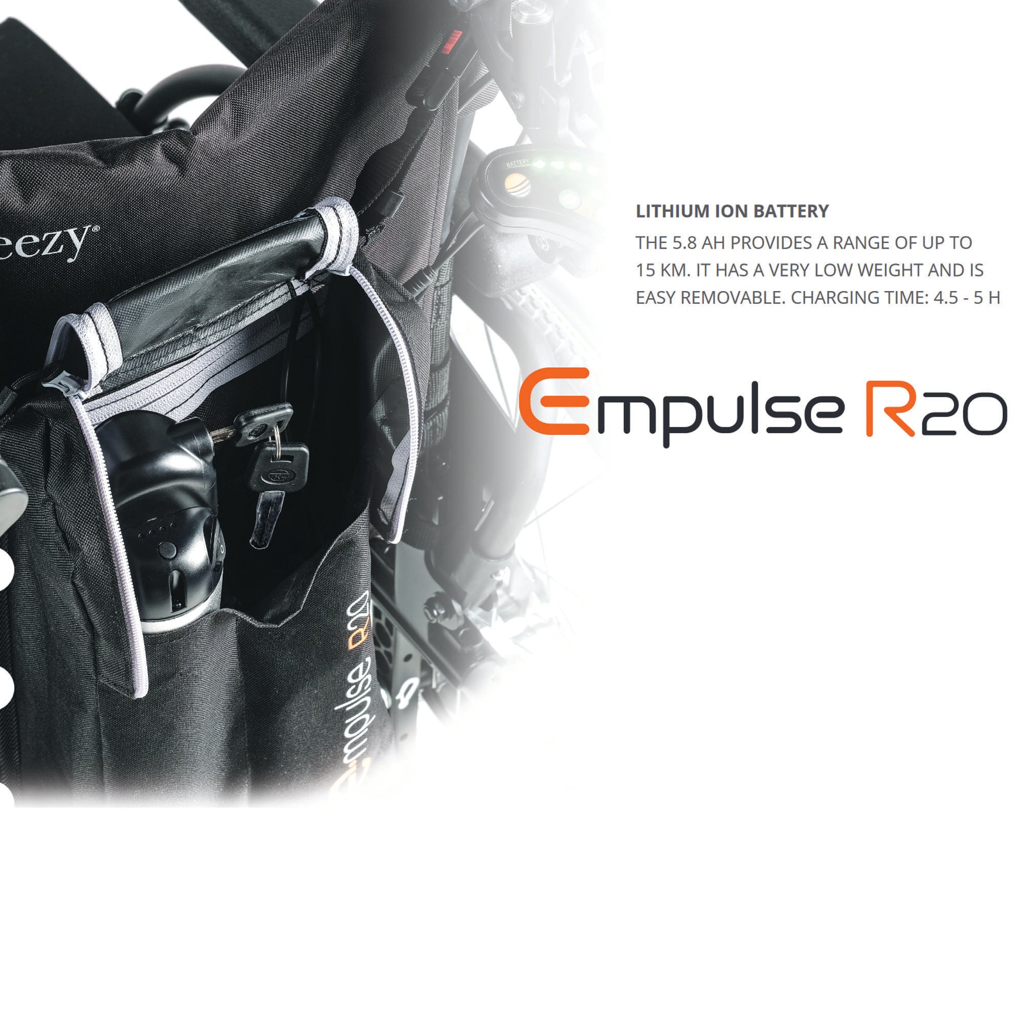 Empulse R20 Universal Wheelchair Push Assist Power Pack
