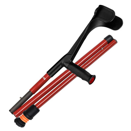 Flexyfoot Open Cuff Carbon Fibre Folding Soft Grip Crutch