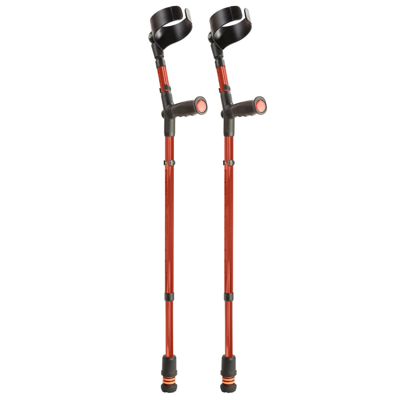 Flexyfoot Closed Cuff Soft Grip Double Adjustable Crutch