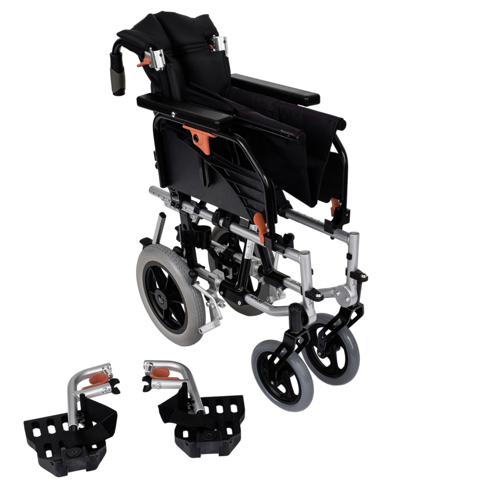 "Excel G-Modular Fixed Transit Wheelchair, 22"" Extra Wide Seat"