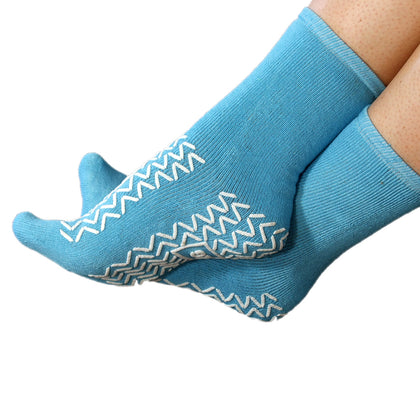 Hospital Approved Latex-Free Double Tread Non-Slip Soft Slipper Socks