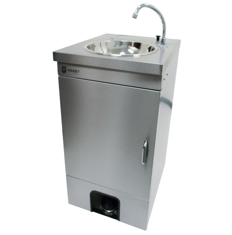 Parry Heated Stainless Foot Operated Mobile Wash Basin
