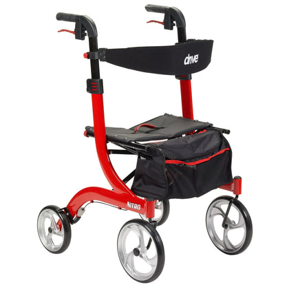 Nitro Tall Rollator (Red)