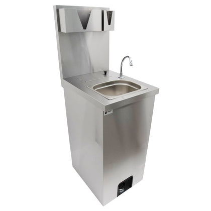 Parry Infection Control Stainless Foot Operated Mobile Wash Basin