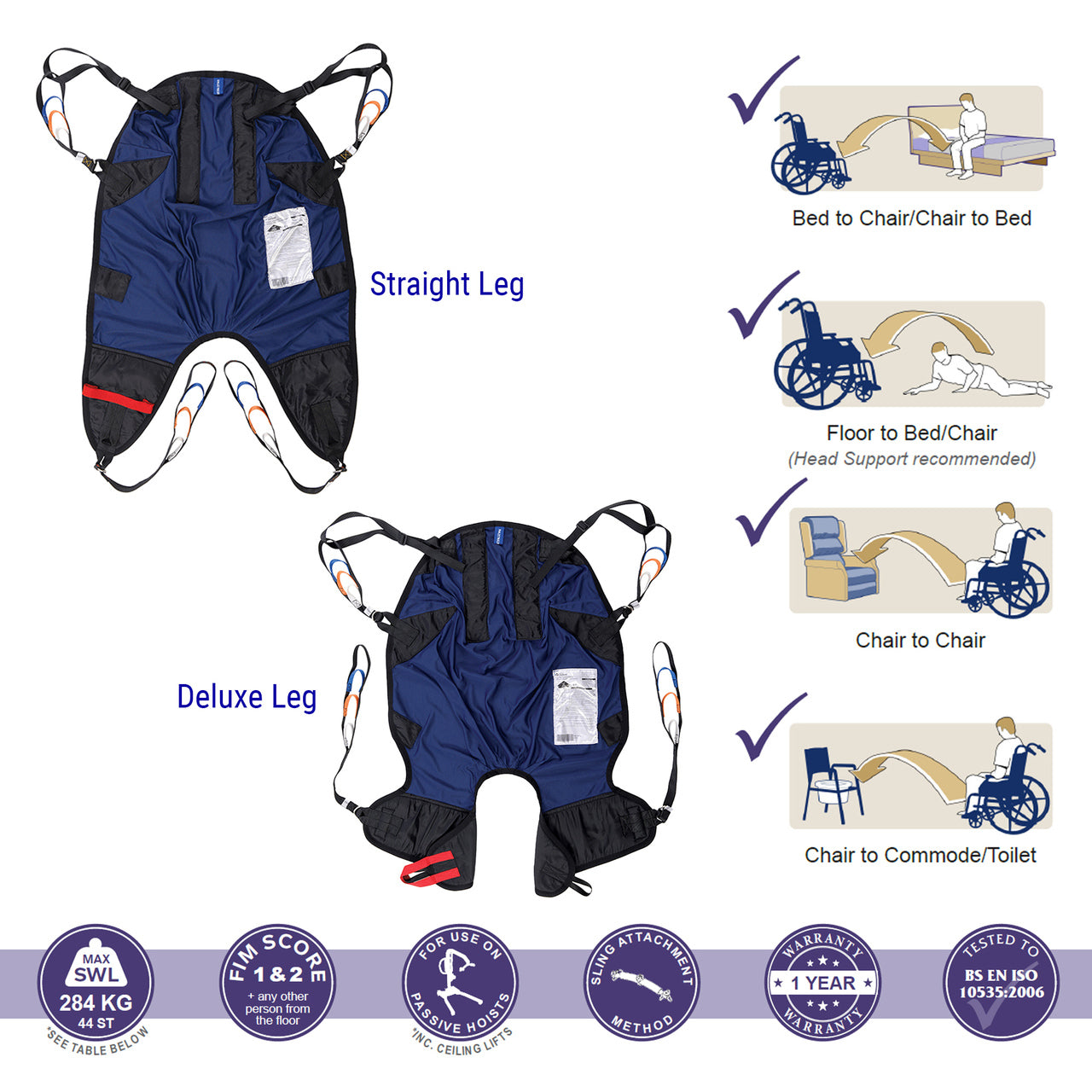 Oxford Ultrafine Lite Sling With Padded Legs