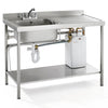 Parry Stainless Quick Fit Instant Hot Water Sink With Integral Heater