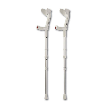 Rebotec 'Big Travel' Heavy Duty Extra Tall Collapsible Crutches (Pair) - Grey