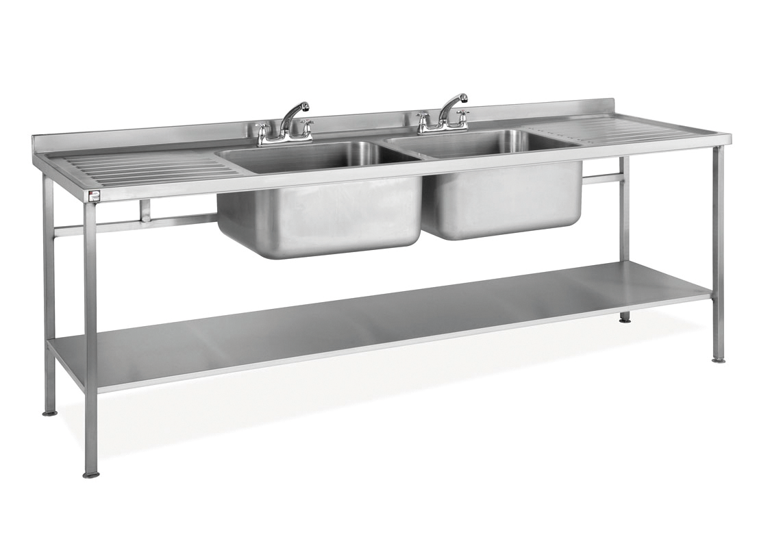 Parry Stainless Double Standard Sink