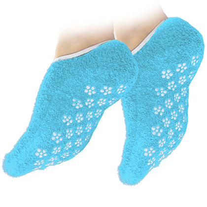 NHS Medically Approved Latex-Free Single Tread Premium Non-Slip Soft Slipper Socks - Turquoise - 1 Pair (Medium - UK 3-4)