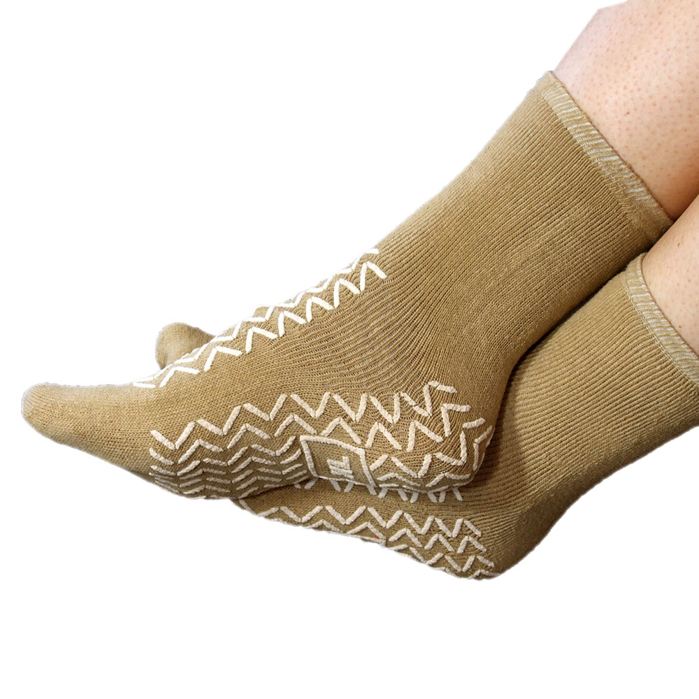 NHS Medically Approved Latex-Free Double Tread Non-Slip Soft Slipper Socks