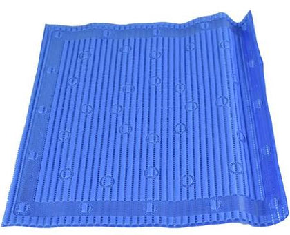Non Slip Anti-Microbial Anti-Slip Shower Mat with 'Silver Technology' by StayPut - Blue 50.8 x 50.8cm