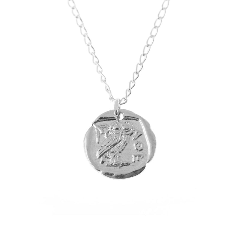 Athena Coin Necklace Silver