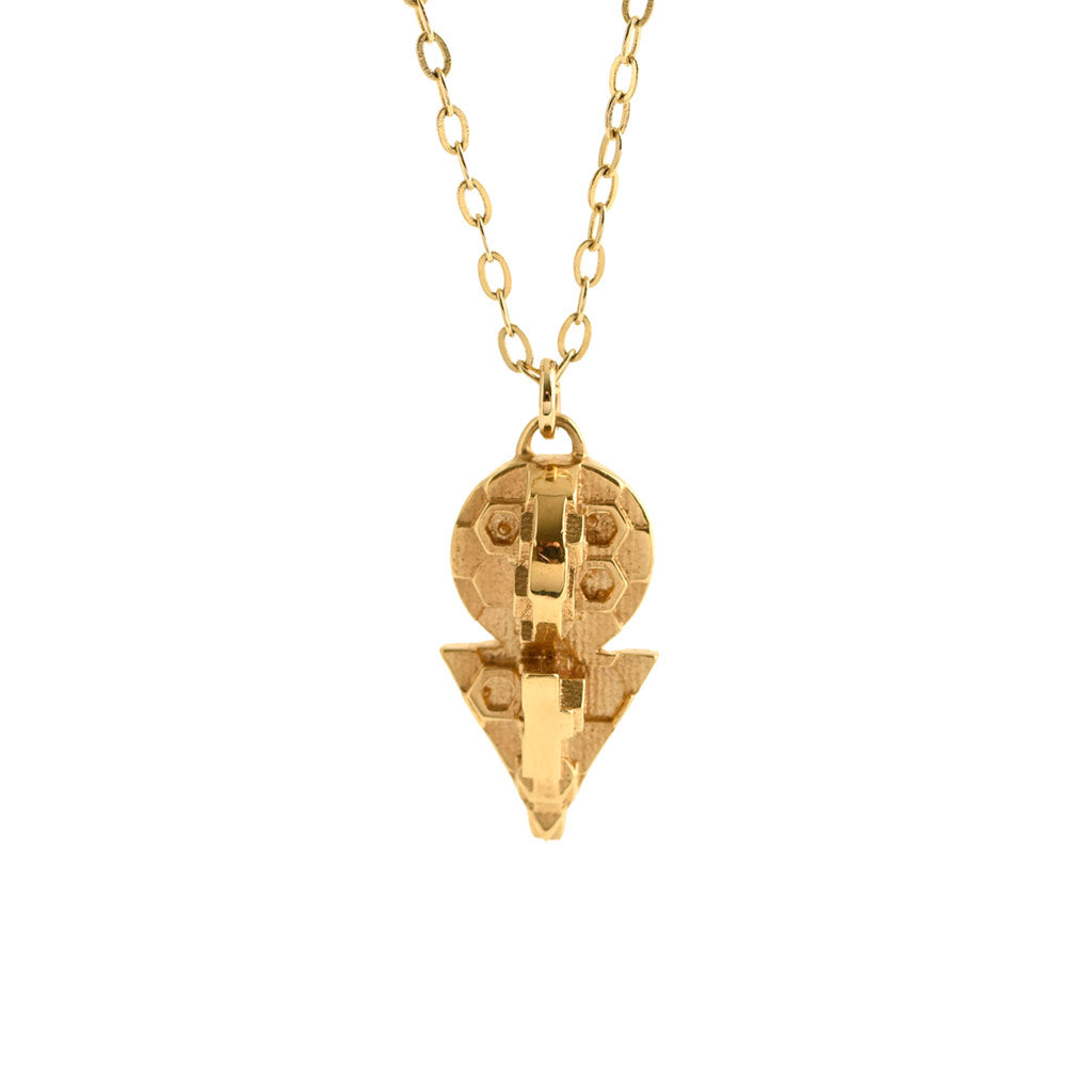 Cosmic Key Pendant Gold