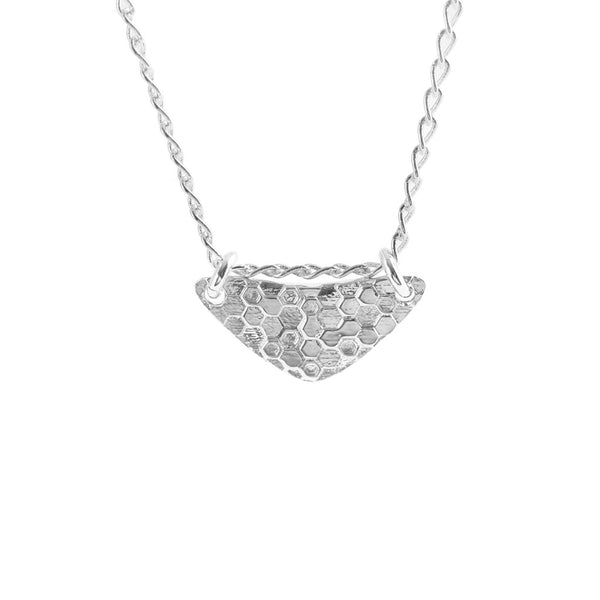 Little Shield Necklace Silver