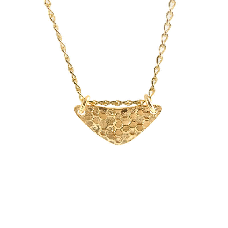 Little Shield Necklace Gold