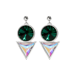 Silver Cosmic Drop Earrings Swarovski crytals