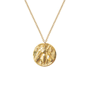 Queen Bee Coin Necklace