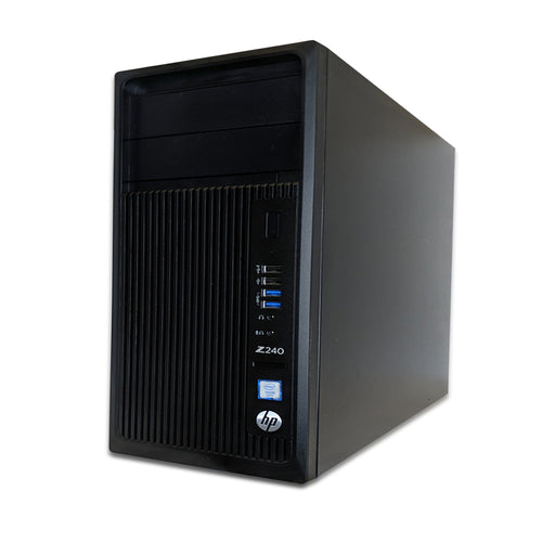 HP | Z240 Workstation | Xeon E3-1240 v5 @ 3.50GHz | 3TB HDD | WIN10 Pro