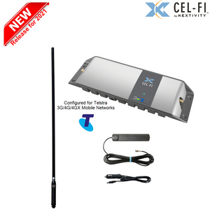 Cel-Fi GO Telstra Maxi 4WD/Trucker Vehicle Pack incl the elite 114cm RFI CD7197-B (7.5dBi) Antenna