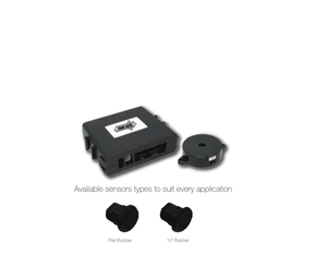 Parksafe 02-50525028(BR16) Rear Parking Sensor Kit, 4.8Mtr 10º Black Rubber Sensors - Point to Point Distributions