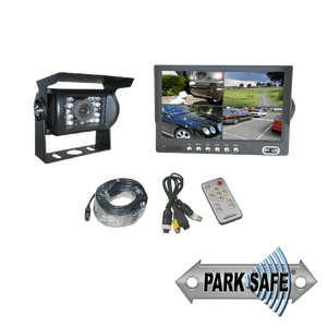 "Parksafe 26-045 Heavy Duty 7"" Quad Monitor & 1x Reversing Camera Combo - Point to Point Distributions"