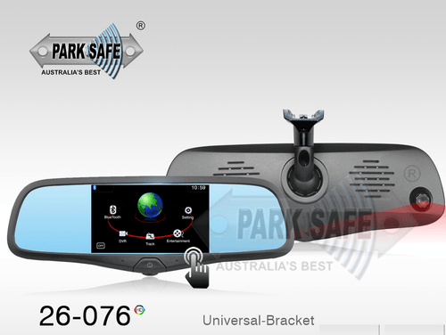 Parksafe 26-076 SMART MIRROR With Inbuilt Dashcam|GPS|HD DVR|Bluetooth|FM Transmitter