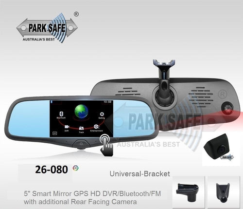 Parksafe 26-080 Smart Mirror with Dual Cameras | GPS | HD DVR | Bluetooth/FM Transmitter