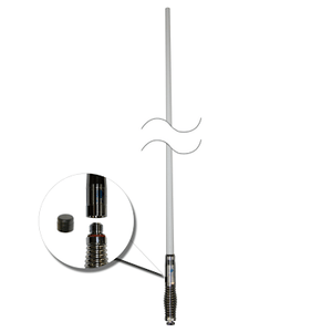 RFI CDQ5000-W Q-Fit UHF CB 477Mhz Collinear Antenna - White / Chrome Spring 1010mm