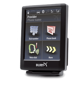 Bury CC9068-ISO Bluetooth Handsfree Carkit with voice control, touch Screen, ISO harness, no external speaker