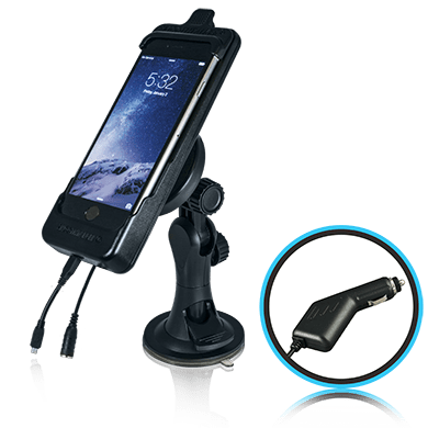 SmoothTalker Cradle BTHAL62MFCAS-Apple iPhone 8 | 7 | 6s | SE (2nd Gen) Window Mount-Cig Lighter Charging - Point to Point Distributions