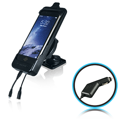 SmoothTalker Cradle BTHAL62MFCA - Apple iPhone 8 | 7 | 6s | SE (2nd Gen)  Dashmount-Cig Lighter Charging - Point to Point Distributions