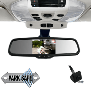 Parksafe CD-CM070 4.3″ Replacement Mirror Monitor & Mini Stalk Camera Combo - Point to Point Distributions