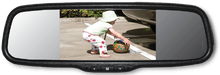 Parksafe CD-CM079 - 5″ Clip-On Mirror Monitor & Camera Combo - Point to Point Distributions