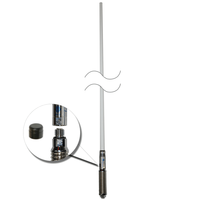 RFI CDQ-7195-W Bullbar Mounted Q-Fit Broomstick 3G+4G+4GX Antenna White 970mm - Point to Point Distributions