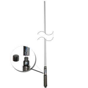 RFI CDQ-7197-W Bullbar Mounted Q-Fit Broomstick 3G+4G+4GX Antenna White 1210mm - Point to Point Distributions